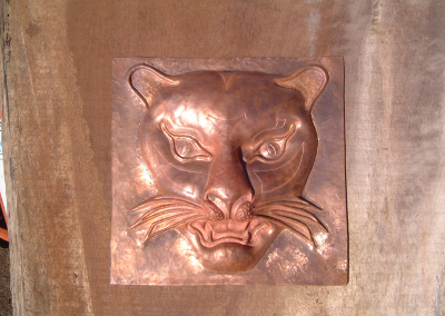 Copper Repouse Leopard