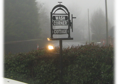 Wash Corner Cottage Sign