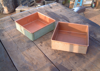 Wire Edged Copper Trays