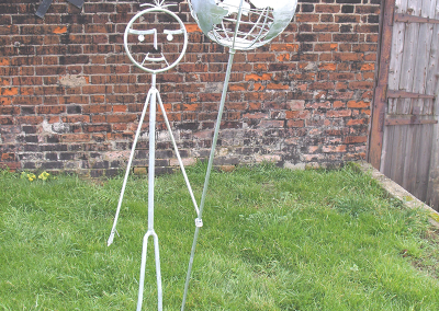 World on a Stick Sculpture